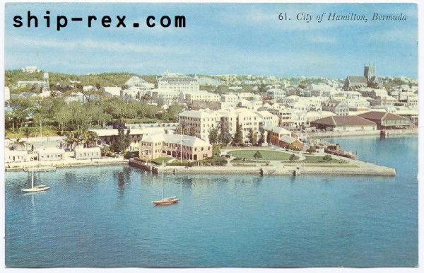 City Of Hamilton, Bermuda - postcard